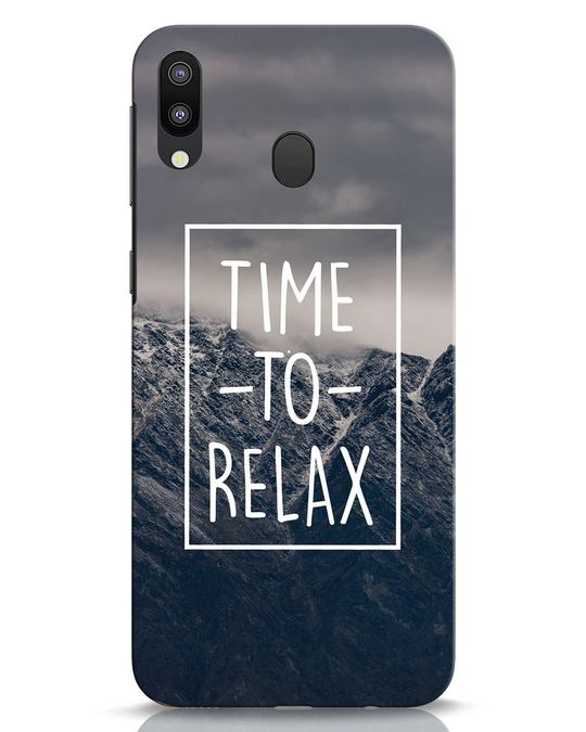 Shop Time To Relax Samsung Galaxy M20 Mobile Cover-Front