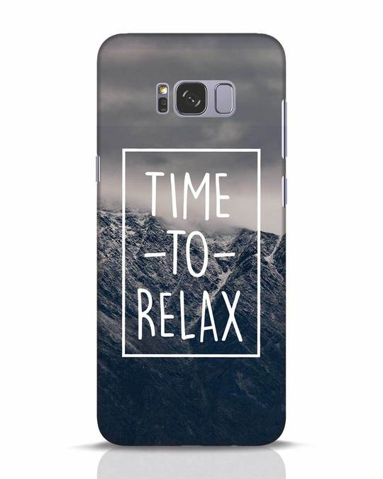 Shop Time To Relax Samsung Galaxy S8 Plus Mobile Cover-Front
