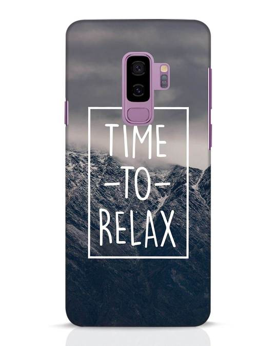 Shop Time To Relax Samsung Galaxy S9 Plus Mobile Cover-Front