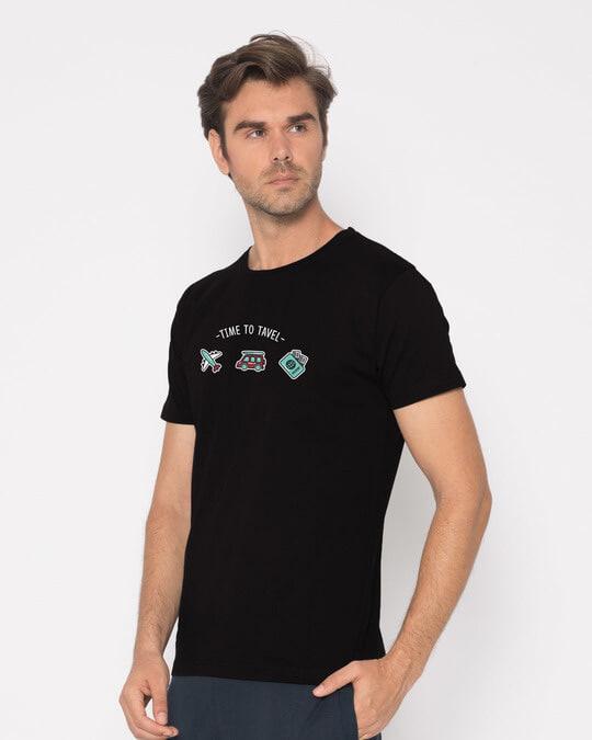 Shop Time To Travel Half Sleeve T-Shirt-Design