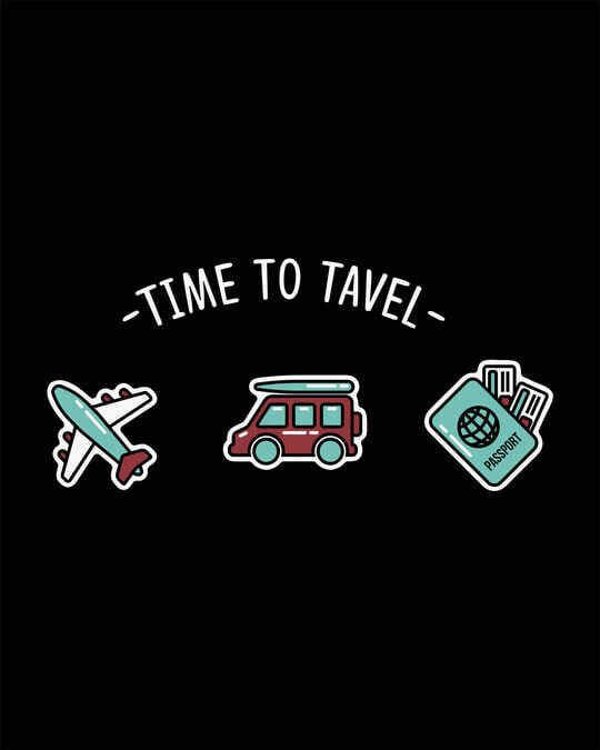 Shop Time To Travel Half Sleeve T-Shirt