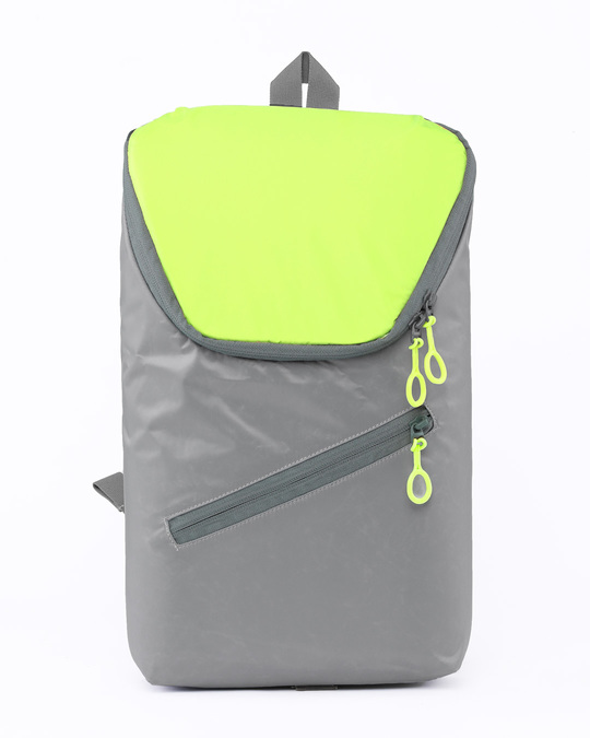 Shop Tin Grey - Flash Green Mini Backpack-Front