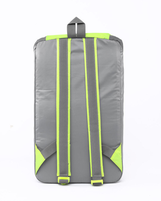 Shop Tin Grey - Flash Green Mini Backpack-Full