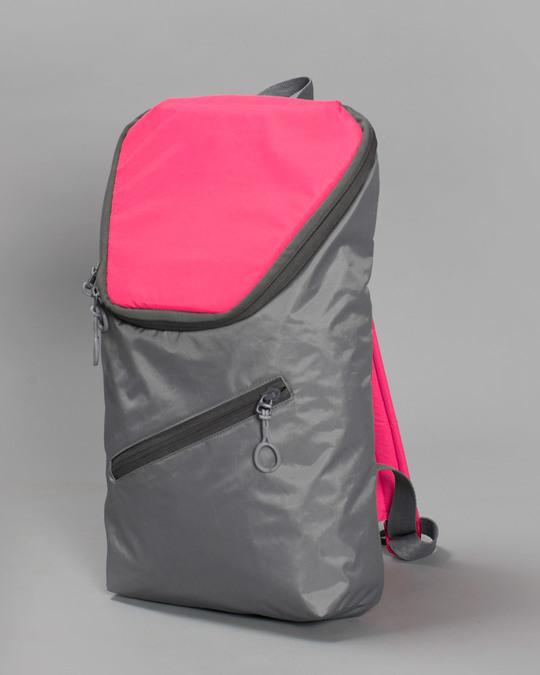 Shop Tin Grey - Highlighter Pink Mini Backpack-Back