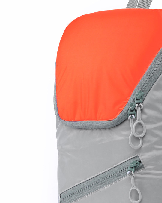 Shop Tin Grey - Spark Orange Mini Backpack