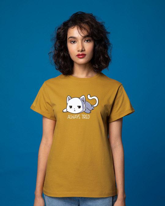 Shop Tired Always Boyfriend T-Shirt-Front