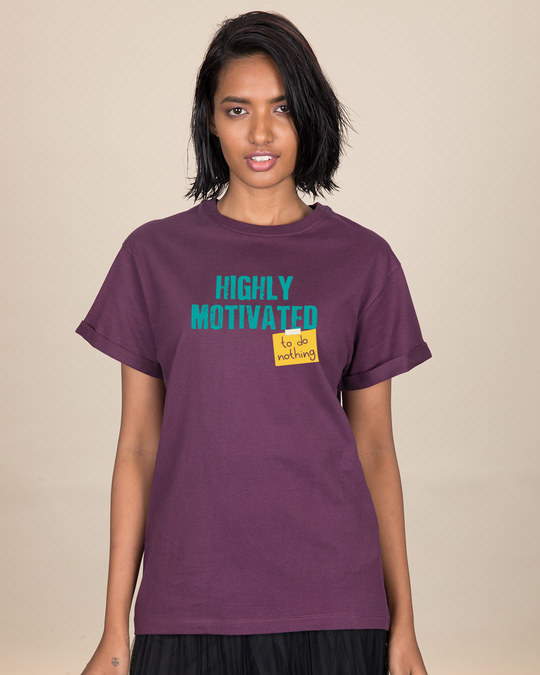 Shop To Do Nothing Boyfriend T-Shirt-Front