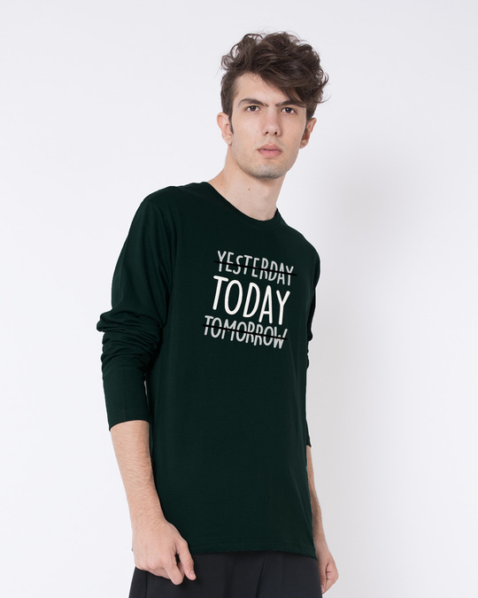 Shop Today Yesterday Tomorrow Full Sleeve T-Shirt-Back
