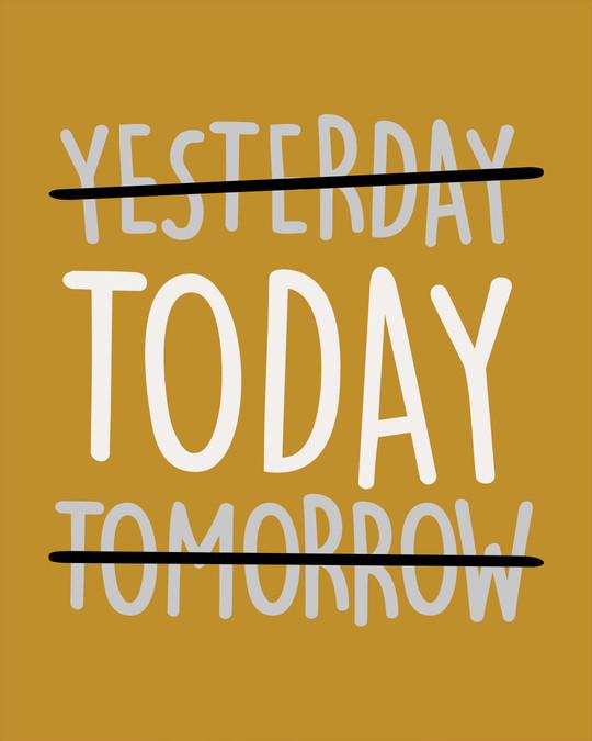 Shop Today Yesterday Tomorrow Half Sleeve T-Shirt