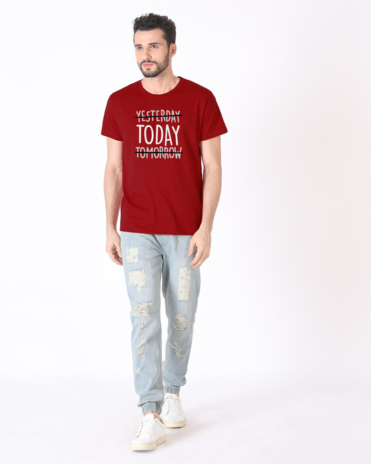 Shop Today Yesterday Tomorrow Half Sleeve T-Shirt