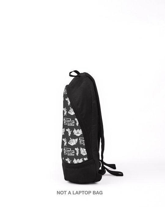 Shop Tom & Jerry BP AOP Printed Small Backpack (TJL)-Back