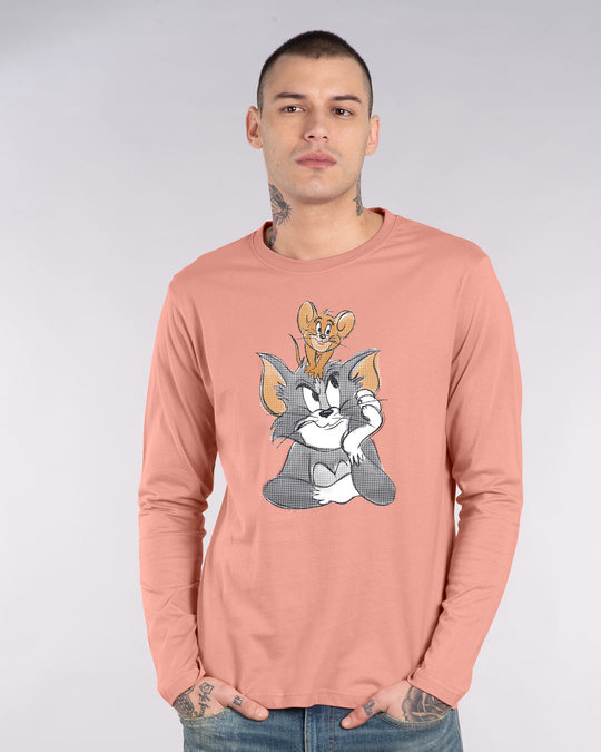 Shop Tom And Jerry Full Sleeve T-Shirt (TJL)-Front