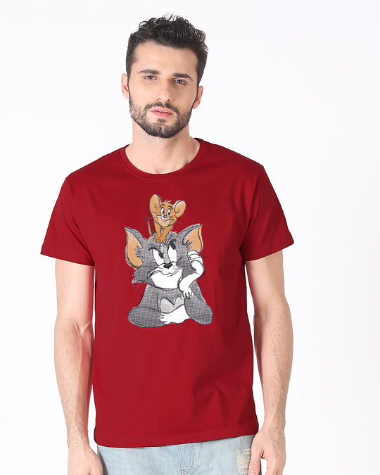 Shop Tom And Jerry Half Sleeve T-Shirt (TJL)-Front