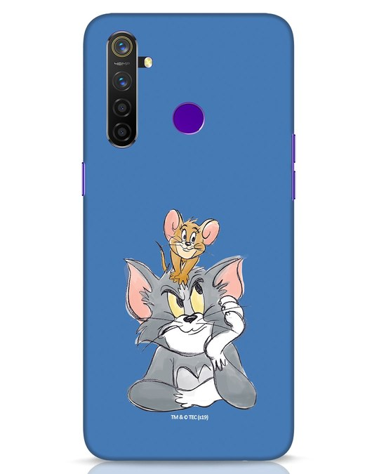 Shop Tom And Jerry Realme 5 Pro Mobile Cover (TJL)-Front