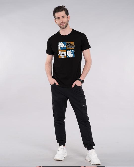 Shop Tom And Jerry Window Half Sleeve T-Shirt (TJL)-Design