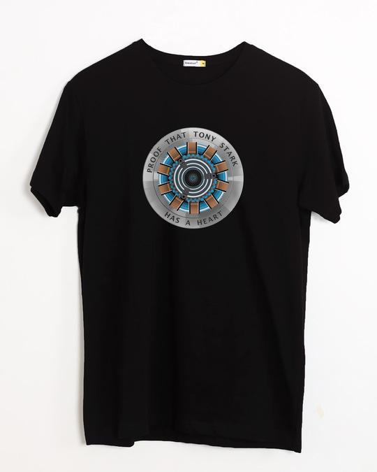 Shop Tony Stark Heart Half Sleeve T-Shirt (AVL)-Front