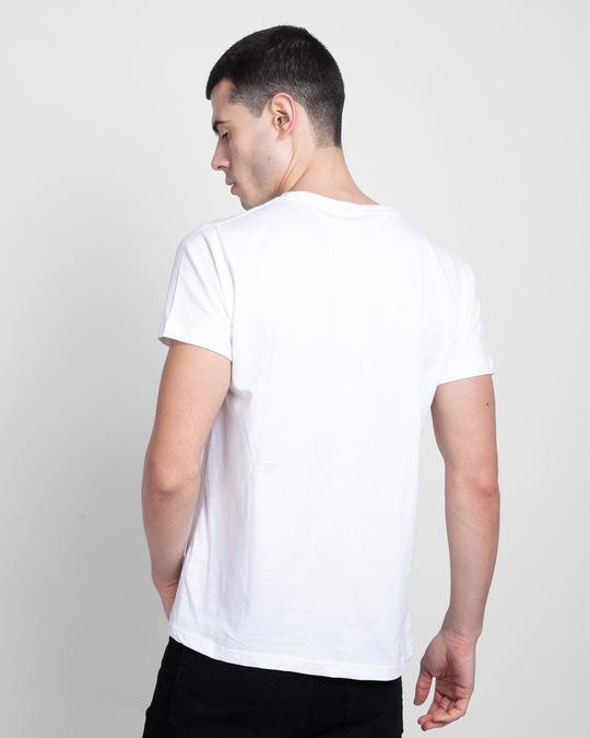 Shop Tony Stark Silhouette Half Sleeve T-shirt (AVL) White-Back