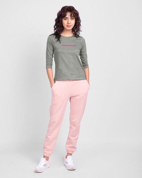 Shop Too Close Round Neck 3/4 Sleeve T-Shirts Meteor Grey  -Design