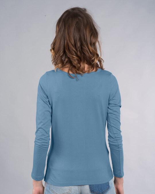 Shop Too Cute Jerry Scoop Neck Full Sleeve T-Shirt (TJL) Island Blue-Back