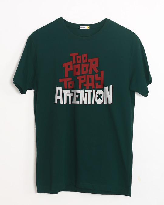 Shop Too Poor Half Sleeve T-Shirt-Front