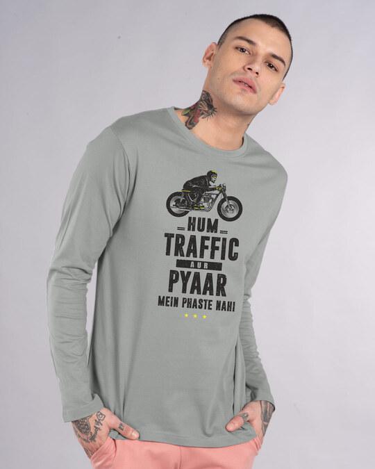 Shop Traffic Aur Pyaar Full Sleeve T-Shirt-Front