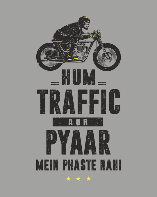 Shop Traffic Aur Pyaar Full Sleeve T-Shirt