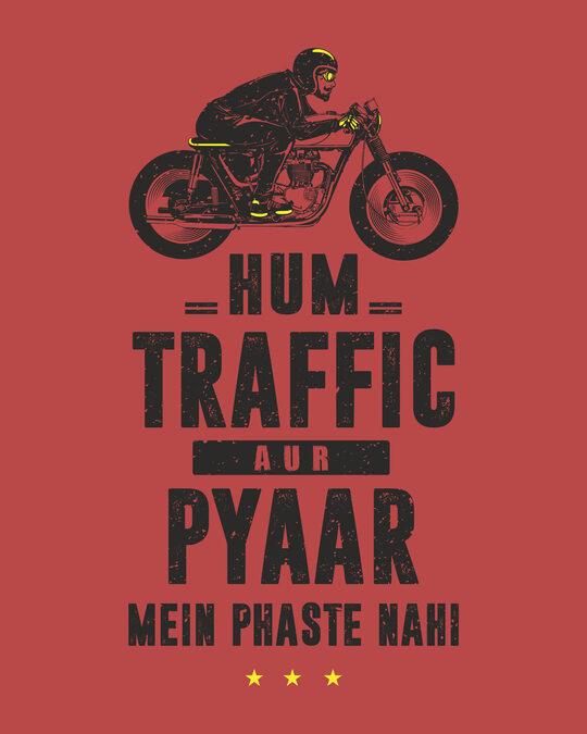 Shop Traffic Aur Pyaar Half Sleeve T-Shirt-Full