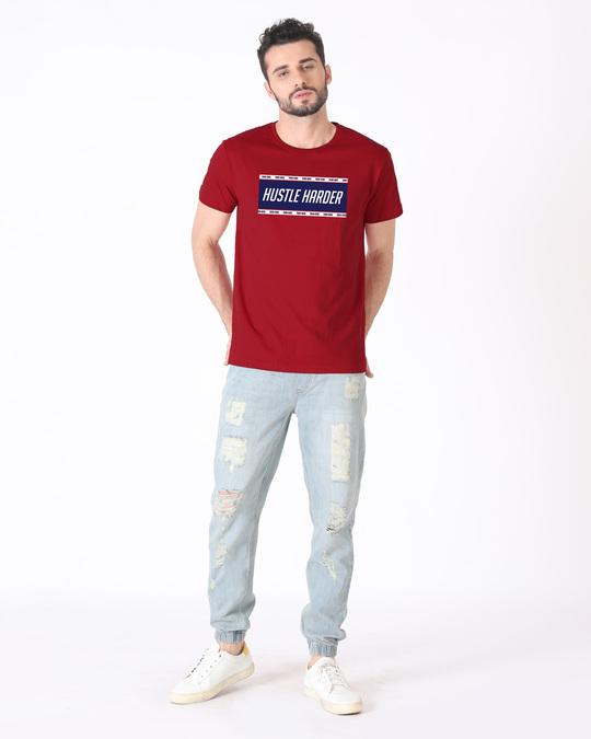 Shop Train And Hustle Half Sleeve T-Shirt-Design