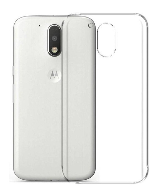 Shop Transparent Moto G4 Plus Silicon Mobile Cover-Front