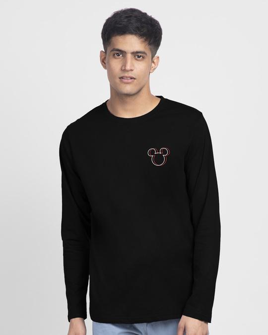 Shop Trap Mickey Full Sleeve T-Shirt (DL)-Back