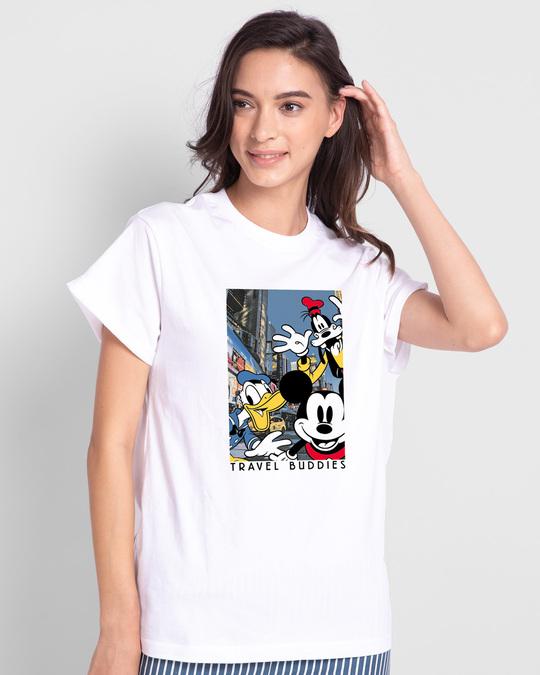 Shop Travel Buddies Boyfriend T-Shirt-Front