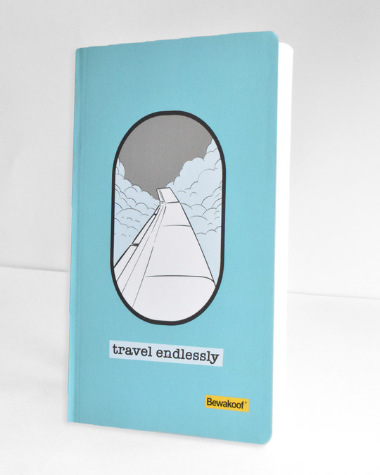 Shop Travel Endlessly Notebook-Back