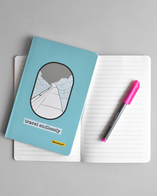 Shop Travel Endlessly Notebook-Design