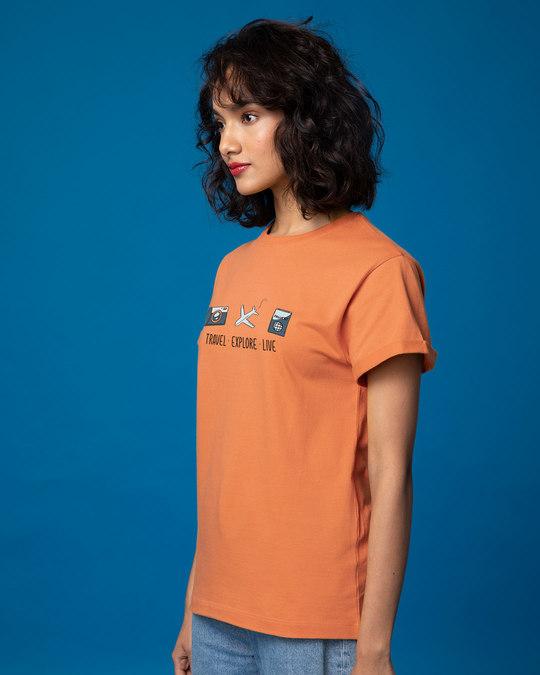 Shop Travel Explore Live Boyfriend T-Shirt-Back