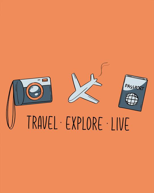 Shop Travel Explore Live Boyfriend T-Shirt