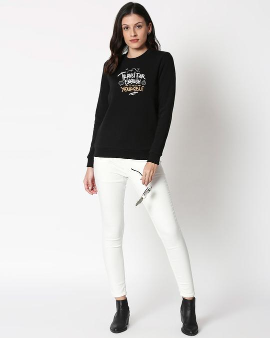 Shop Travel Far Enough Fleece Sweater Black-Design