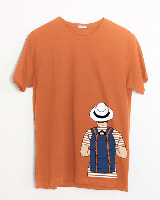 Shop Travel Freak Half Sleeve T-Shirt-Front
