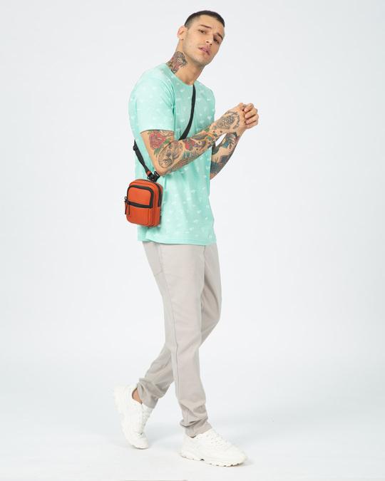 Shop Travel Icon Men's AOP Half Sleeves T-Shirts-Full