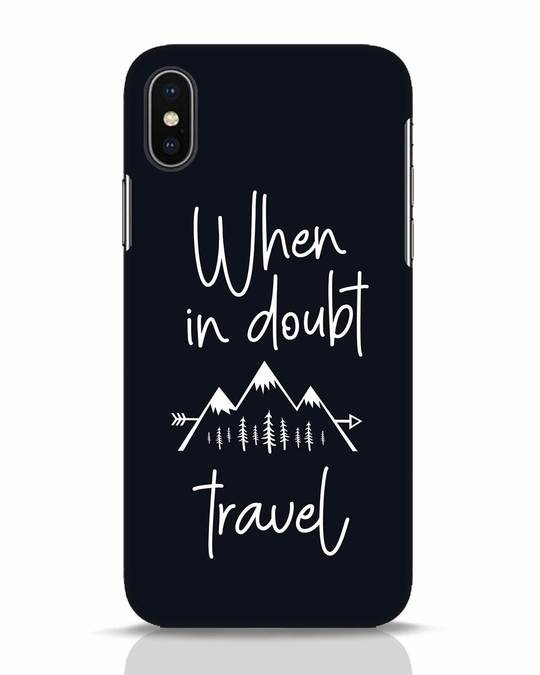 Shop Travel iPhone X Mobile Cover-Front