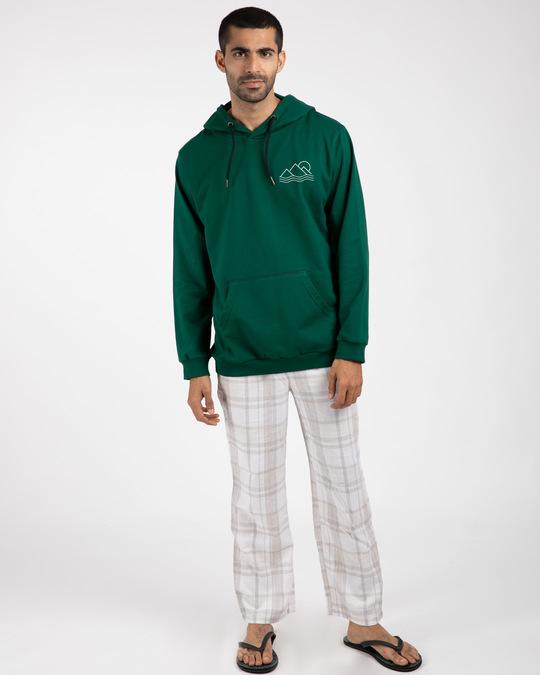 Shop Travel Minimal Fleece Hoodies-Design