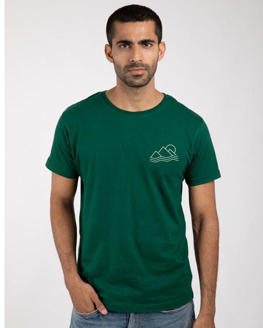Shop Travel Minimal Half Sleeve T-Shirt-Back