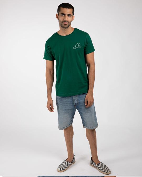 Shop Travel Minimal Half Sleeve T-Shirt-Full