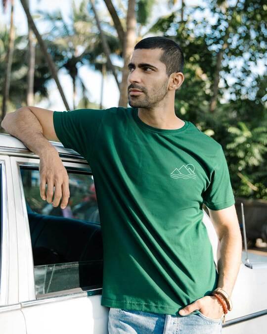 Shop Travel Minimal Half Sleeve T-Shirt-Front