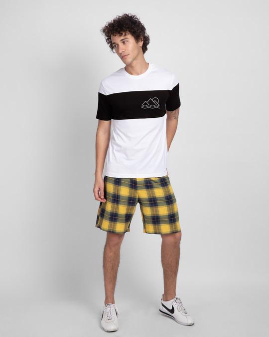 Shop Travel Minimal Pocket Color Block T-Shirt-Full