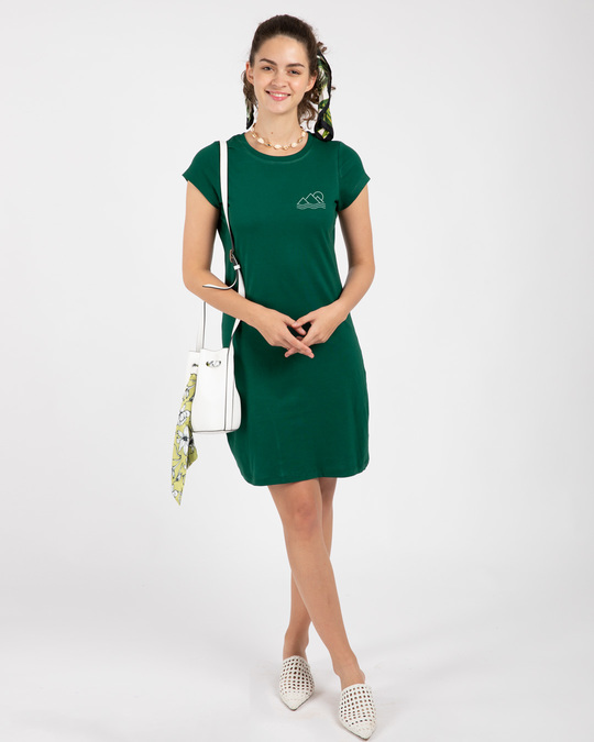 Shop Travel Minimal Single Jersey T-Shirt Dress-Full