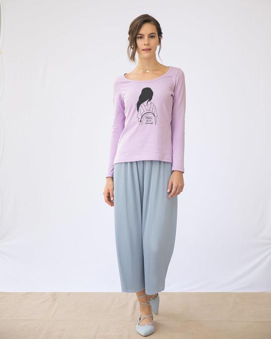 Shop Travel On My Mind Scoop Neck Full Sleeve T-Shirt-Design