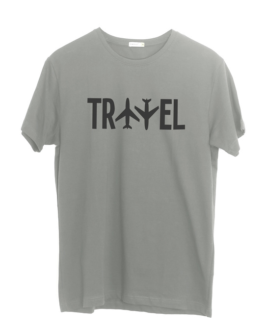 Shop Travel Plane Half Sleeve T-Shirt-Front
