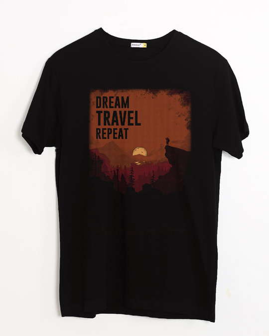 Shop Travel Repeat Half Sleeve T-Shirt-Front