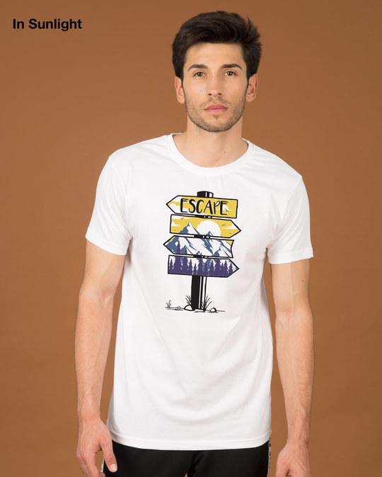 Shop Travel Signs Half Sleeve T-Shirt (Sun Active)-Design