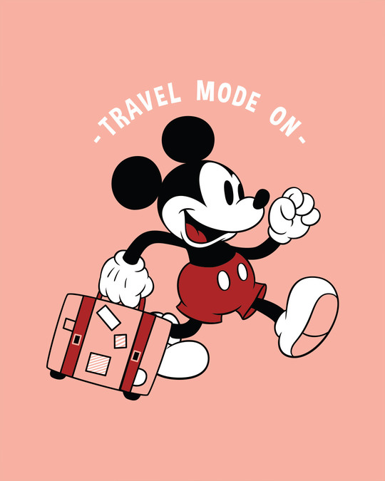 Shop Traveller Mickey Boyfriend T-Shirt (DL)